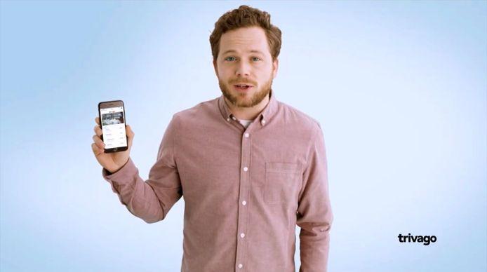 Een stilstaand beeld uit een reclame van Trivago.