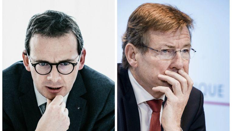 CD&V-voorzitter Wouter Beke en Financiënminister Johan Van Overtveldt (N-VA).