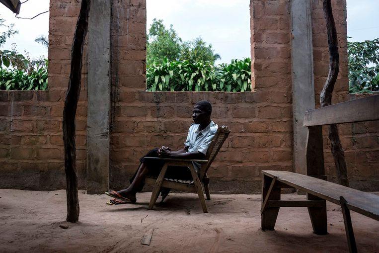 In Gungu, in Zuidwest-Congo, waar 9000 vluchtelingen verblijven. Beeld AFP