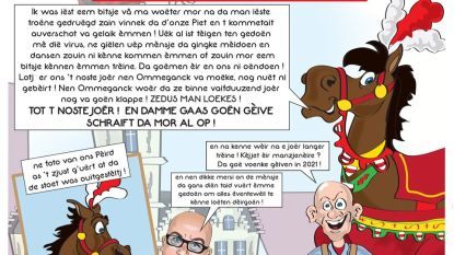 't Peird blijft in zijn kot en daar hoort cartoon van Jo Spanoghe bij
