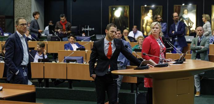 Maikel Boon (PVV) en CDA-fractievoorzitter Ankie de Hoon