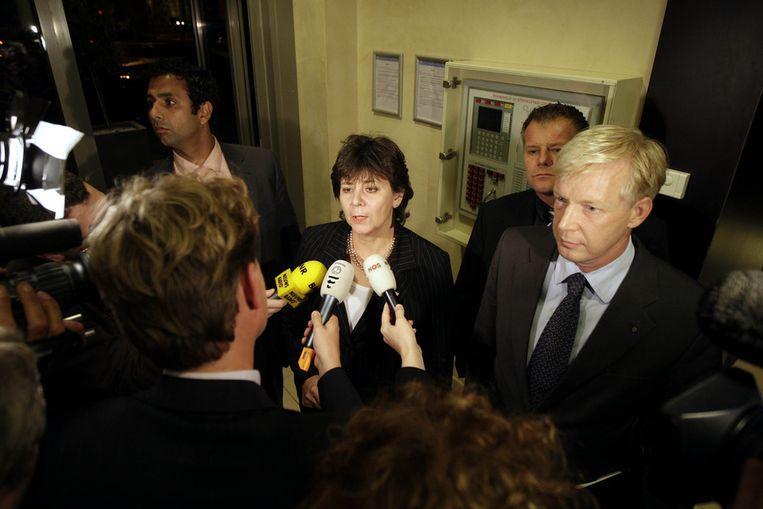 Rita Verdonk in oktober 2007 voor aanvang van een gesprek met het hoofdbestuur van de VVD in het Novotel te Den Haag. Beeld anp