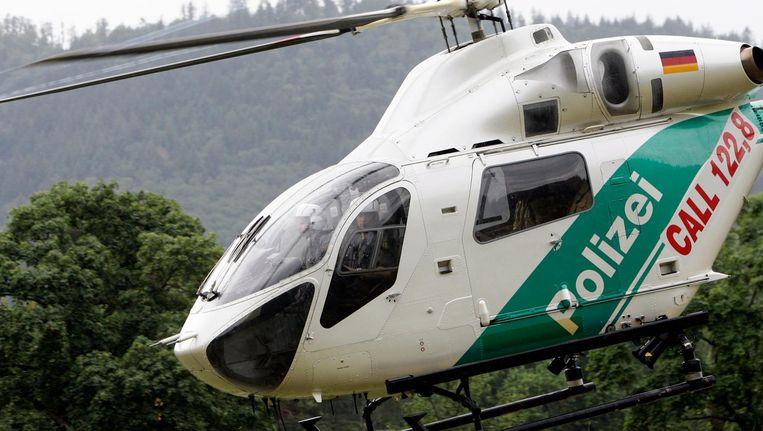 Een Duitse politiehelikopter Beeld anp