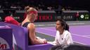 Kiki Bertens met haar nieuwe coach Elise Tamaëla