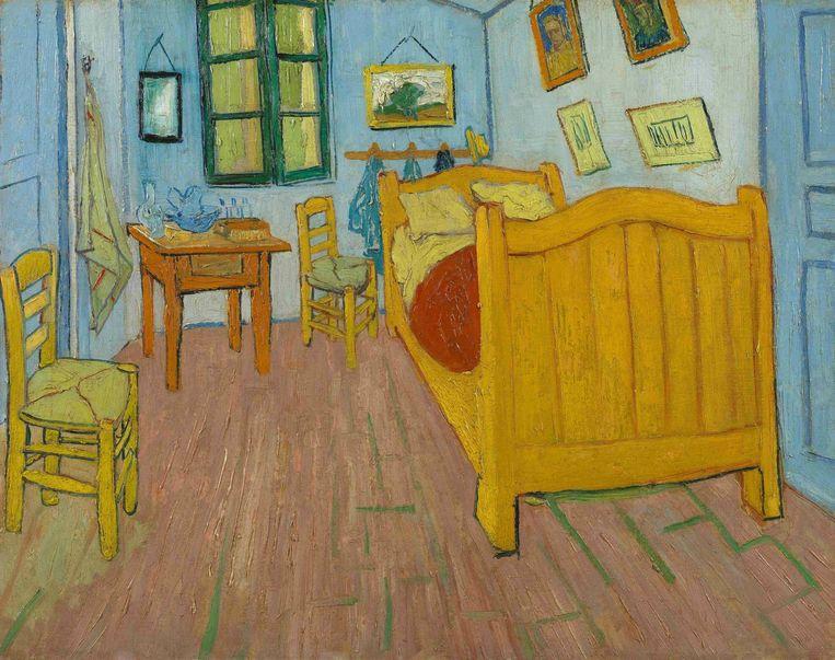 Het origineel: 'Slaapkamer te Arles' (1888). Beeld Vincent van Gogh
