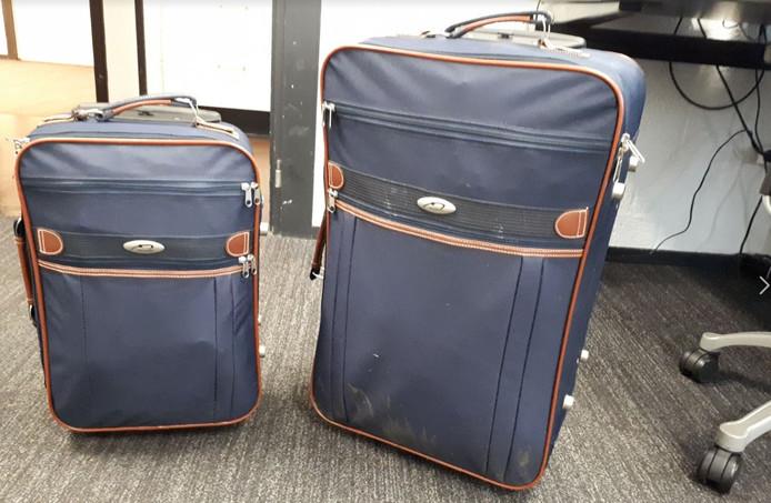 De koffers die op een raadselachtige plek werden gevonden
