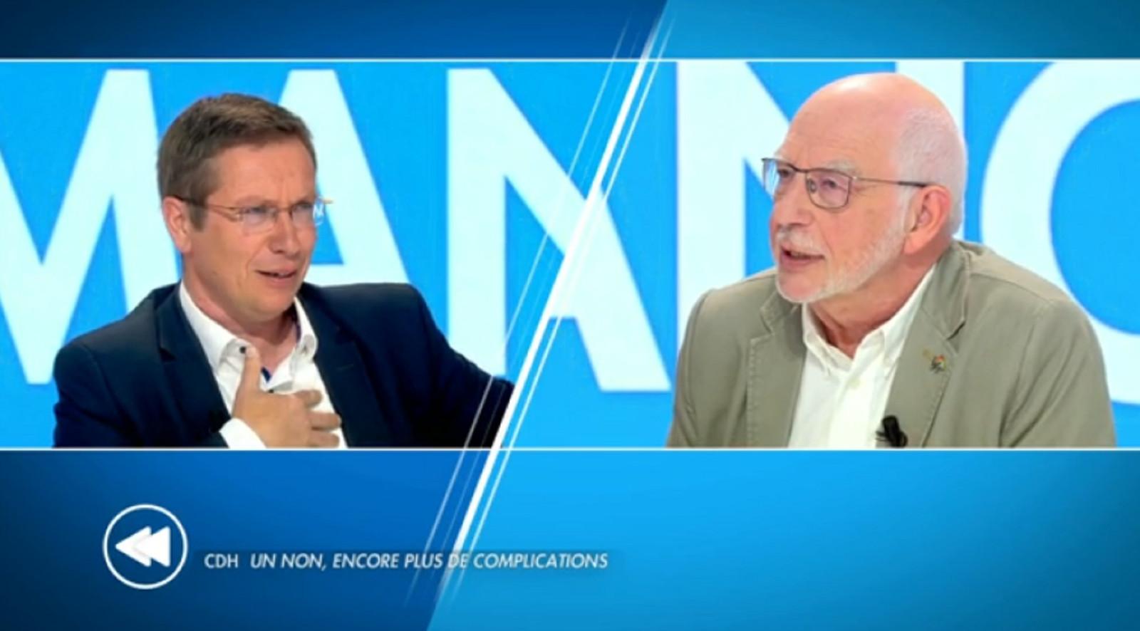 François Desquesnes (cdH) et Philippe Defeyt (Ecolo)