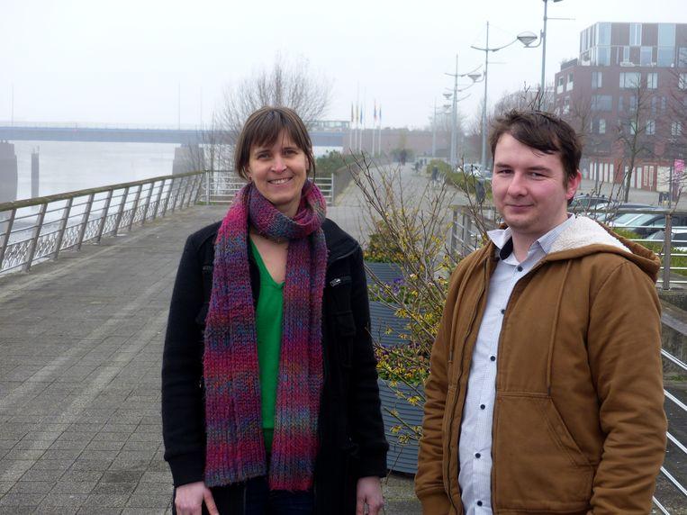 Stijn De Meyer, kersvers voorzitter van Groen Boom, samen met ondervoorzitter Lesley Jacobs.