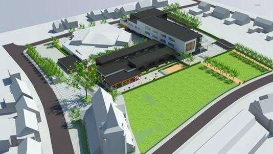 Zo moet het nieuwe schoolgebouw eruitzien.