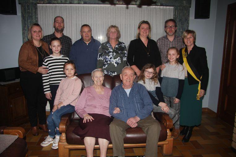 Jozef Uyttersprot en Maria De Gols: 65 jaar getrouwd en een viergeslacht in de familie.