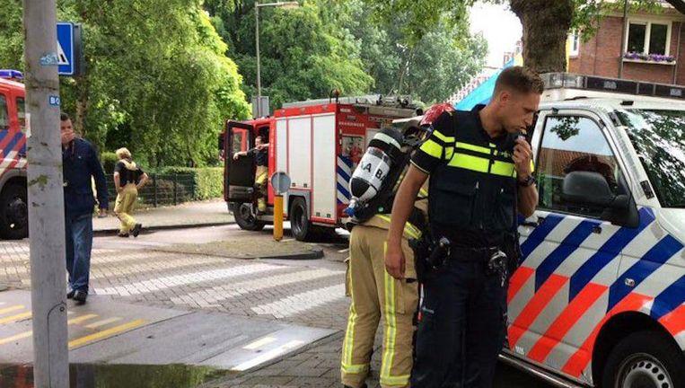 De politie loste tijdens de arrestatie een waarschuwingsschot Beeld Mark Lievisse Adriaanse