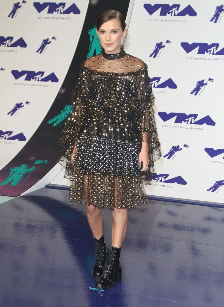 Hier draagt de actrice een jurk van Rodarte.