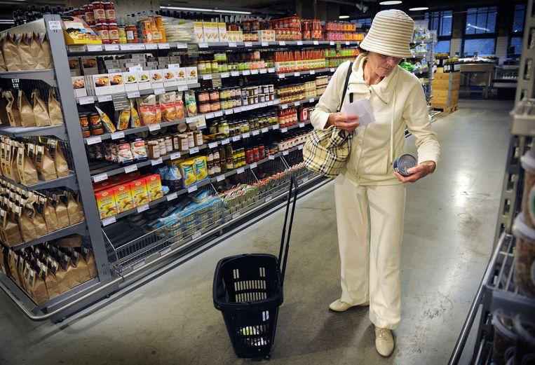 Een Amsterdamse vestiging van de duurzame supermarkt Marqt. Beeld Marcel van den Bergh