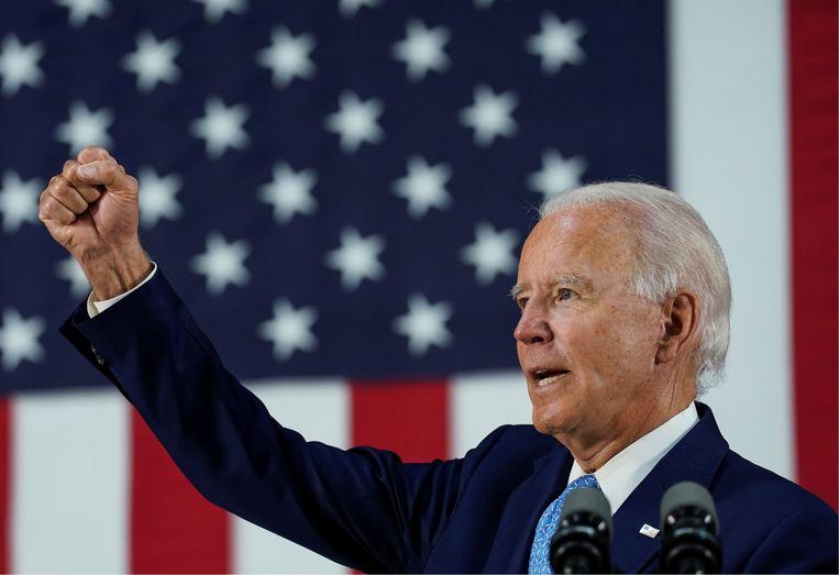 'Biden is geen sterke kandidaat, maar mensen ouder dan 65 scharen zich achter hem. Als Trump hen niet terugwint, verliest hij de verkiezingen.' Beeld