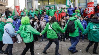 Bijna 2.000 werknemers protesteren aan Proximus Towers tegen herstructurering