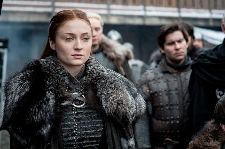 Sophie Turner in de rol van Sansa Stark.