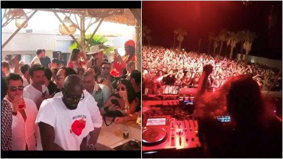 Links: op dit feestje in Saint-Tropez is het aan de bar drummen als altijd. Rechts: dj Charlotte De Witte speelt op Sicilië een set voor een vol huis: niet zo coronaproof, lijkt het.