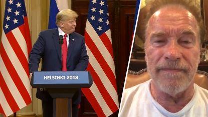"""Schwarzenegger haalt uit naar Trump: """"Je stond daar als een kleine natte noedel"""""""