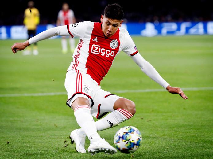 Edson Alvarez scoorde voor Ajax tegen Lille in de Champions League.