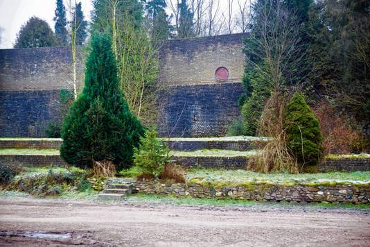 De  Muur van Mussert in Lunteren, waar de NSB-leider zijn toespraken.