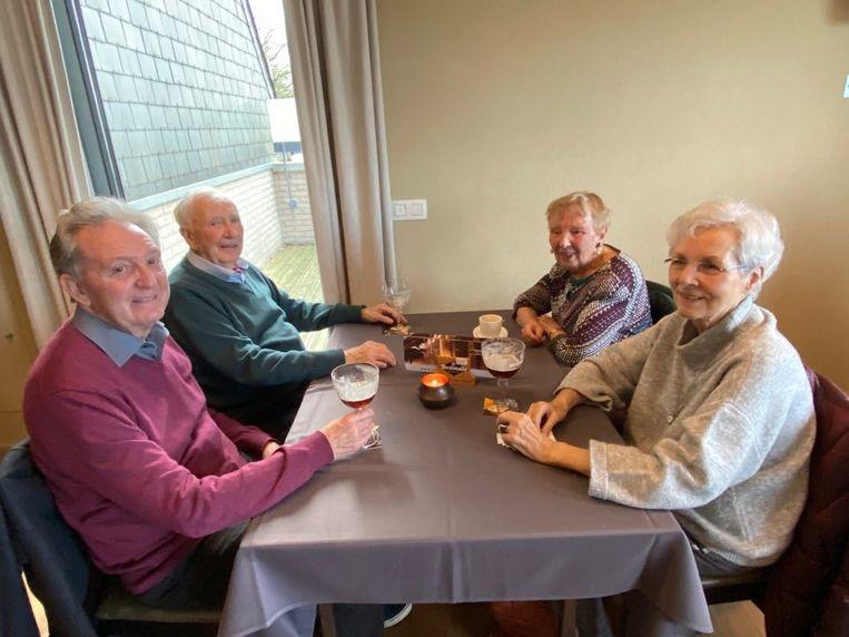 Etienne Beleyr (80) (links vooraan) uit Sint-Niklaas.