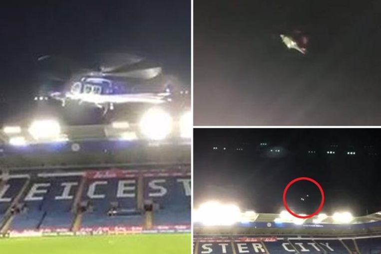 De helikopter begon al boven het stadion van Leicester te tollen. Het toestel stortte uiteindelijk neer op een nabijgelegen parking, met vijf doden tot gevolg.