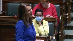 """Wilmès in de Kamer: """"Ik beantwoord misschien voor  een laatste keer als premier jullie vragen"""""""