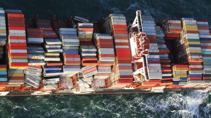 Ook gevaarlijke container met batterijen overboord bij Nederlandse Wadden