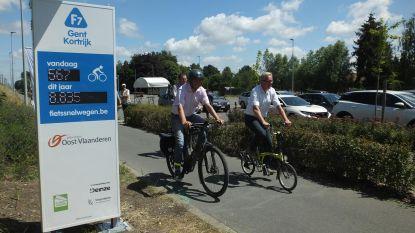 Provincie telt fietsers langs F7 tussen Gent en Kortrijk