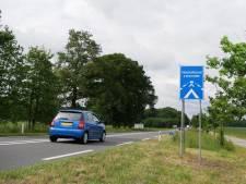 Tekens op weg tussen Raalte en Broekland sorteren geen effect