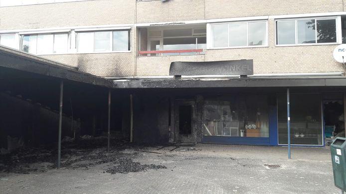 De Posthof in Bladel na de brand.