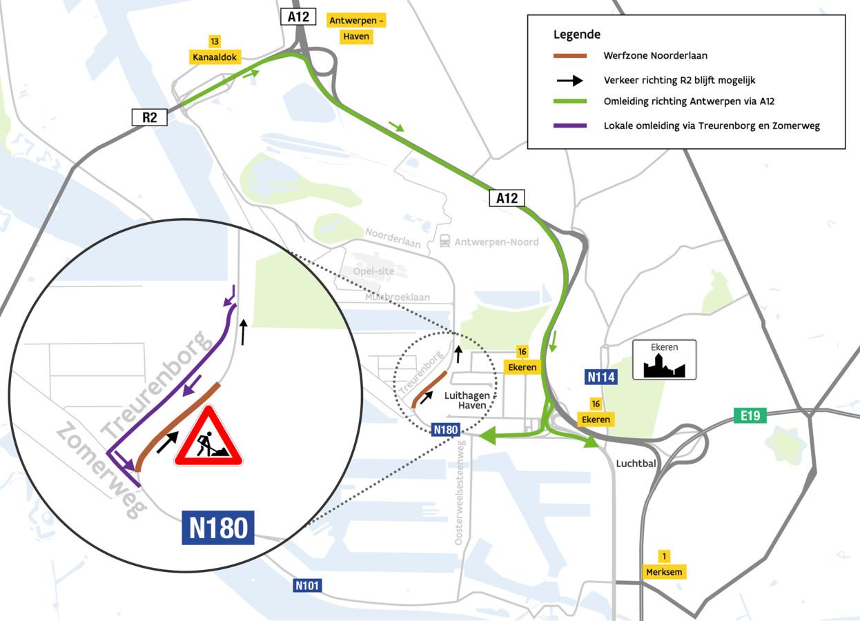Vanaf 16 september pakt AWV het derde deel aan, de Noorderlaan tussen Donk Molenbergnatie en het kruispunt met de Zomerweg.