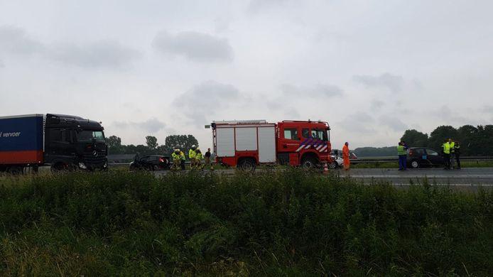 Ongeluk op de A28 zorgt voor een flinke vertraging op de A28 richting Amersfoort