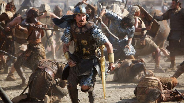 Christian Bale in Exodus: Gods and Kings van Ridley Scott. Beeld
