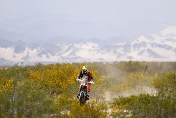 Maikel Smits tijdens de elfde etappe.