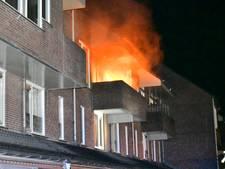 Felle brand op balkon van huis in Westervoort