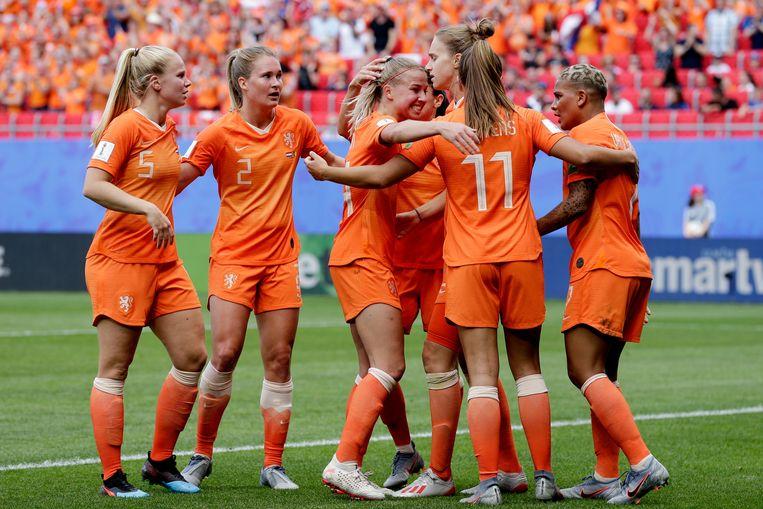 Ook de Oranjevrouwen steunen de boycot. Beeld BSR Agency