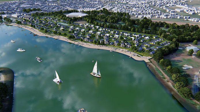 Een impressie van de plannen voor Resort aan de Maas in Kerkdriel.
