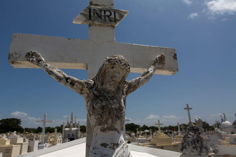 Jezus Christus aan het kruis.  Beeld Ton Koene