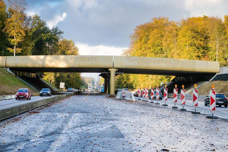 De onderdoorgangen aan het ecoduct zijn opengesteld voor het verkeer. De beplanting begint in 2018.