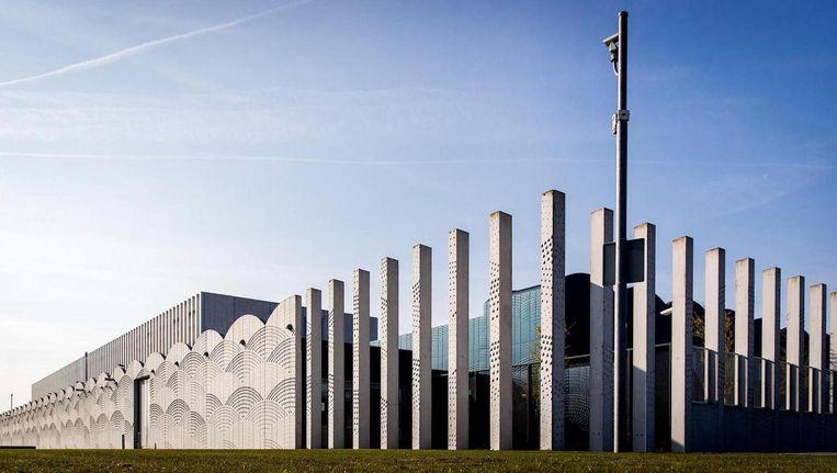 De extra beveiligde rechtbank op Schiphol. Beeld ANP