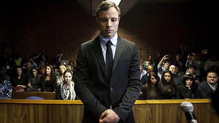 Oscar Pistorius, in augustus 2014 voor de rechtbank in Pretoria Beeld anp