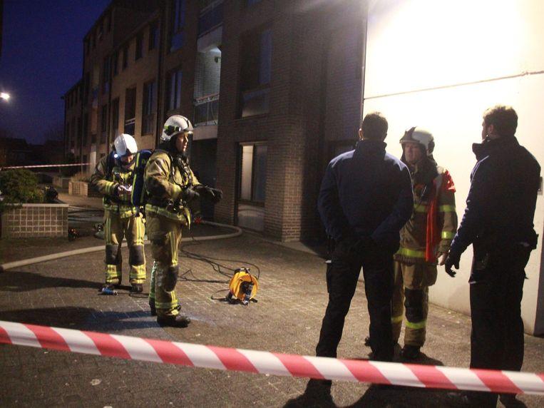 De brand brak uit in een flat in de wijk Spijker.