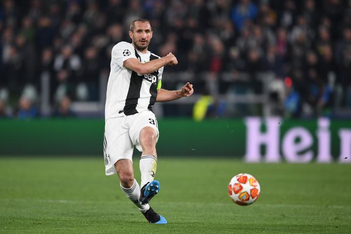 Giorgio Chiellini mist ook de return van Juventus tegen Ajax.
