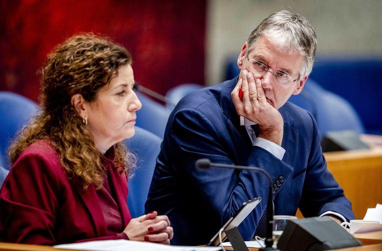 Onderwijsministers Ingrid van Engelshoven en Arie Slob debatteerden woensdag en donderdag in de Tweede Kamer over de onderwijsbegroting. Beeld ANP/Sem van der Wal