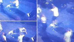 Beelden opgedoken van Sneijder die auto van bejaard echtpaar vernielt