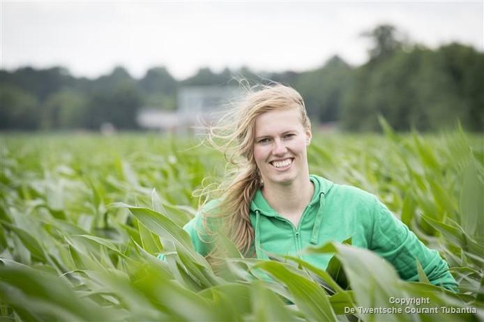 'Als de maïs hoog staat kun je er echt verdwalen', zegt Jacquelien Lenferink.