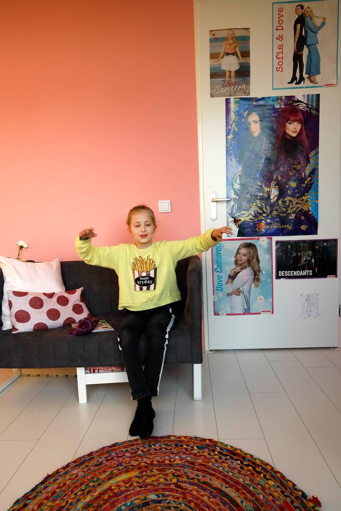 Tessa Boermans in haar kamer.