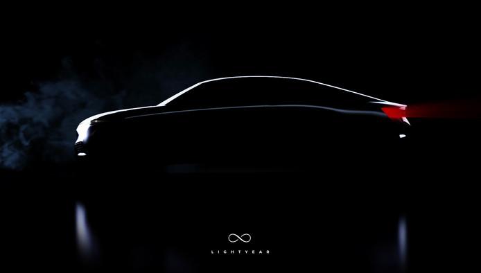 Impressie van de Lightyear One,  een commerciële zonneauto die het bedrijf eind 2018 wil presenteren.