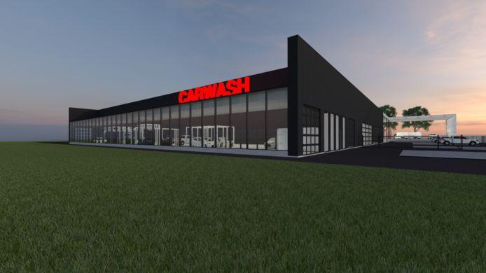 Zo zal de nieuwe garage van Vansteenland in Veurne eruit zien